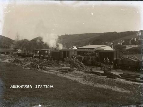 Aberaeron train station 1911