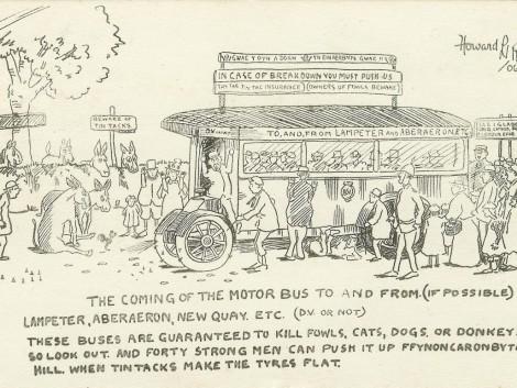 1-Motorbus-to-Lampeter,-1906