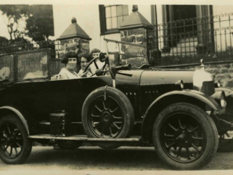 1-two-young-women-in-car,-1920's