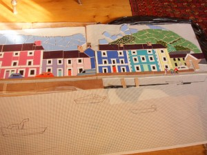 Moving on with the harbour mosaic for the shelter...